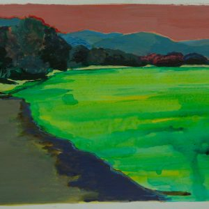 Danube riverbank # 2, 32 x 48 cm, acrylic on paper, 2011