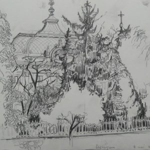 Esztergom # 1, 24 x 32 cm, pencil on paper, 2011