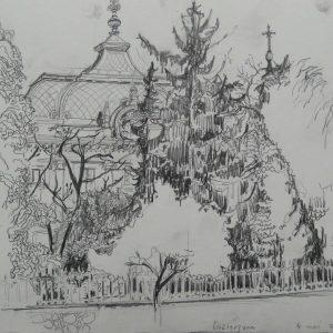 Esztergom # 1, 24 x 32 cm, pencil on paper, 2011