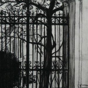 Esztergom # 2, 48 x 32 cm, black chalk on paper, 2011