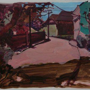 Nagymaros street, 32 x 48 cm, acrylic on paper, 2011
