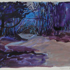 Danube swamp # 2, 32 x 48 cm, acrylic on paper, 2011