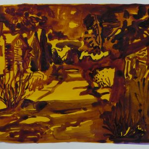 Nearby the river, 32 x 48 cm, acrylic on paper, 2011