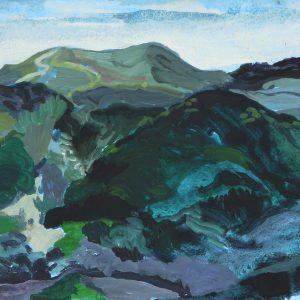 Dunes # 2 (Parnassia), 25 x 50 cm, acrylic on paper, 2012