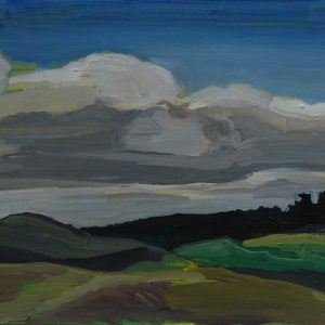 Dunes # 5 (Parnassia), 25 x 50 cm, acrylic on paper, 2012