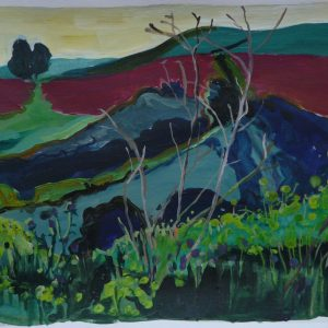 Fields # 2, 29 x 41 cm, acrylic on paper, 2012