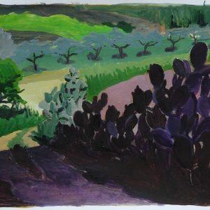 Cactus, 29 x 41 cm, acrylic on paper, 2012