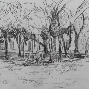 Big shade, 24 x 32 cm, pencil on paper, 2012