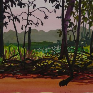Brushwood # 1, 25 x 50 cm, acrylic on paper, 2013