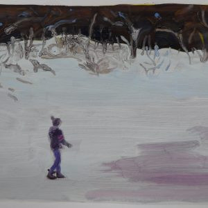 Snowman # 1, 29,5 x 41 cm, acrylic and oil on paper, 2013