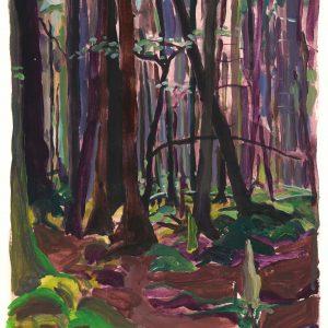 Grünewald # 1 (Vosges), 45 x 33 cm, acrylic on paper, 2011