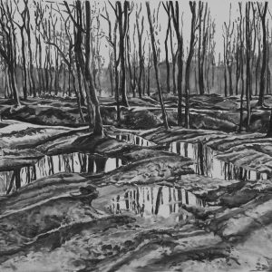 Imprint (Europe), 78 x 127 cm, charcoal on paper, 2014