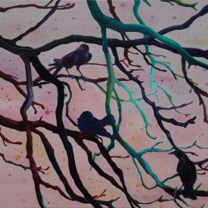 Crows # 2, 100 x 125 cm, oil on canvas 2013/2014
