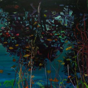 Twilight Pond # 1, 110 x 200 cm, oil on canvas, 2014