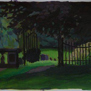 Gate, 30 x 40 cm, acrylic on paper, 2014