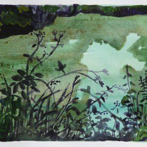 Pond # 3, 25 x 50 cm, acrylic on paper, 2014