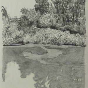Pond # 4, 32 x 24 cm, pencil on paper, 2014