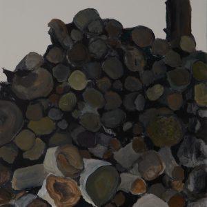 Woodpile, 31 x 23 cm, acrylic on paper, 2014