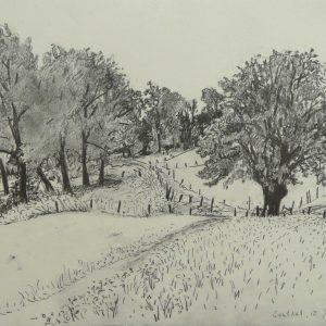 Geuldal # 2, 24 x 32 cm, pencil on paper, 2014