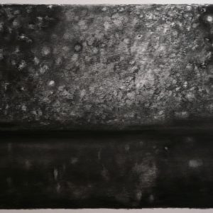 Salt Lake # 2, 34 x 56 cm, charcoal on paper, 2015