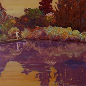 Pond # 5, 170 x 140 cm, oil on canvas, 2015