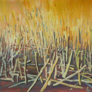 Stoppelveld, 32 x 48 cm, acrylic on paper, 2015
