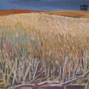 Stoppelveld # 2, 24 x 32 cm, acrylic on paper, 2015