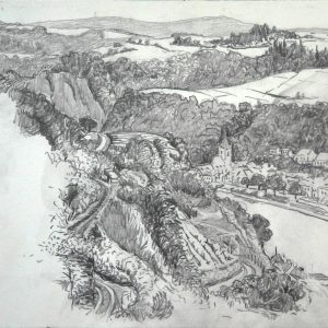 Rhine valley, 23 x 31 cm, pencil on paper, 2015