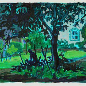 Garden, 32 x 48 cm, acrylic on paper, 2015