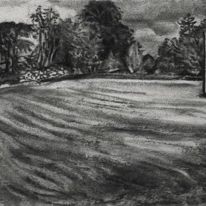 Akker, 24 x 32 cm, charcoal on paper, 2015