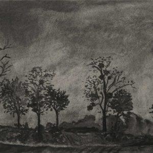 Kasteellaan # 2, 21 x 30 cm, charcoal on paper, 2015
