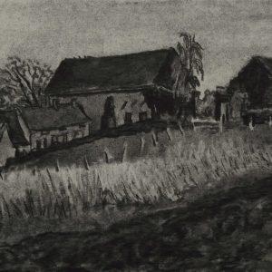 Veld, 24 x 32 cm, charcoal on paper, 2015
