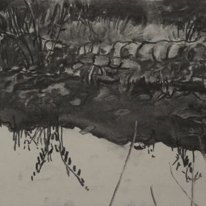 Spiegel, 21 x 30 cm, charcoal on paper, 2015