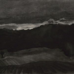 Bosrand, 21 x 30 cm, charcoal on paper, 2015