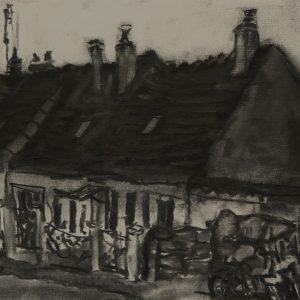 Rijtjeshuis?, 21 x 30 cm, charcoal on paper, 2015