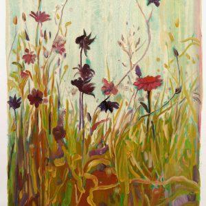 Bermbloemen # 2, 50 x 35 cm, oil on paper, 2016
