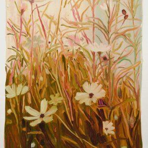 Bermbloemen # 4, 50 x 35 cm, oil on paper, 2016
