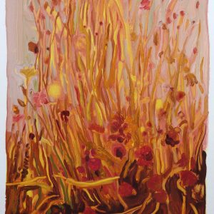 Bermbloemen # 5, 50 x 35 cm, oil on paper, 2016