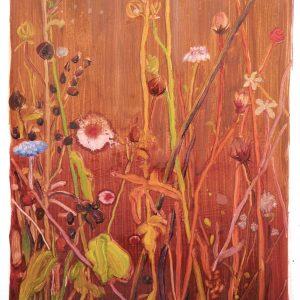 Bermbloemen # 7, 50 x 35 cm, oil on paper, 2016