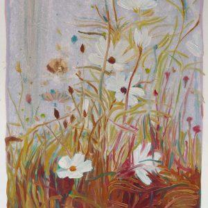 Bermbloemen # 8, 50 x 35 cm, oil on paper, 2016