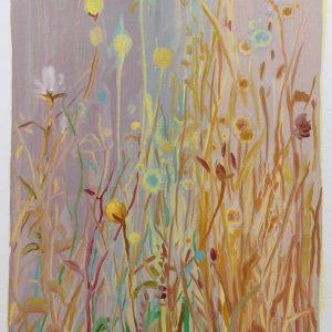 Bermbloemen # 9, 50 x 35 cm, oil on paper, 2016