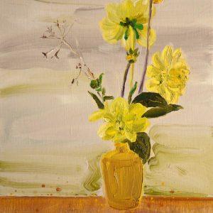 Herfstvaasje # 1, 35 x 30 cm, oil on canvas, 2016