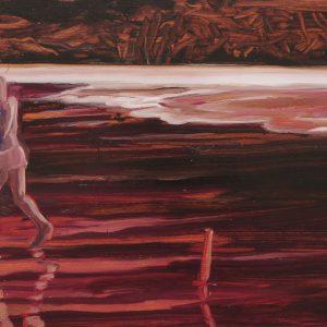 Vloedlijn # 8, 25 x 50 cm, oil on paper, 2016