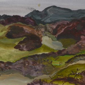 Duinen Parnassia, 25 x 50 cm, acrylic on paper, 2017