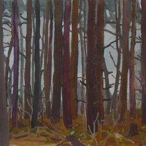 Dennenbosje (Bloemendaal), 25 x 40 cm, acrylic on paper, 2016