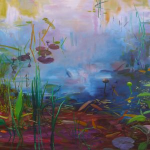 Pond # 9, 100 x 140 cm, oil on canvas, 2017