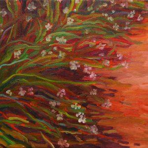 Pollen, 24 x 40 cm, oil on canvas, 2017