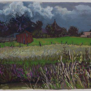 Wolken, 35 x 50 cm, pastel on paper, 2017
