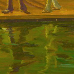 Eldorado # 1 - Pool, 20 x 30 cm, oil on wood, 2018