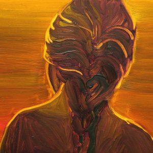 La Dorada # 13 - Vlecht , 20 x 30 cm, oil on wood, 2019